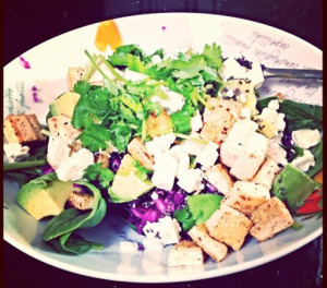 spinach-tofu-salad